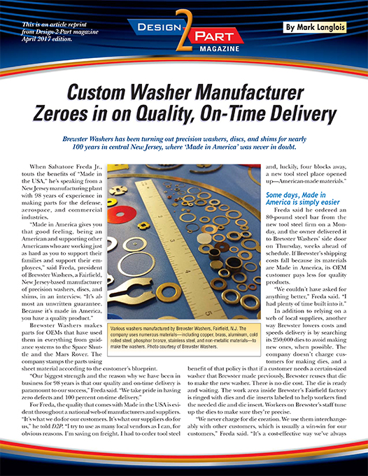 Brewster Washers D2P Article